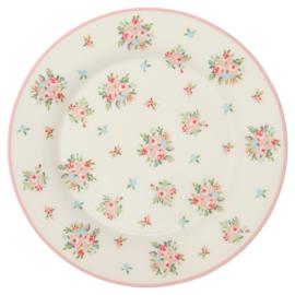 GreenGate Stoneware Plate Abigail White D 20,5 cm