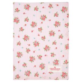 GreenGate Teatowel Abigail Stripe Pale Pink 50 x 70 cm