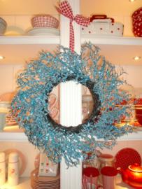 Wreath Christmas Crystal Blue