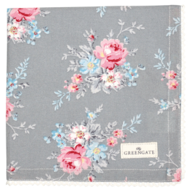 GreenGate Napkin Marie Pale Grey With Lace 40 x 40 cm
