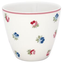GreenGate Stoneware Latte Cup Viola White H 9 cm