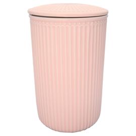 GreenGate Storage Jar Large Alice Pale Pink