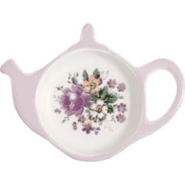 GreenGate Stoneware Teabag Holder Marie Dusty Rose 10,0 x 12,5 cm