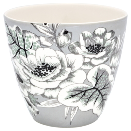GreenGate Stoneware Latte Cup Felicity Grey H 9 cm
