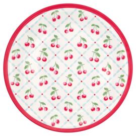 GreenGate Melamine Plate Cherie White D 20 cm