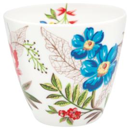 GreenGate Stoneware Latte Cup Ellen White H 9 cm