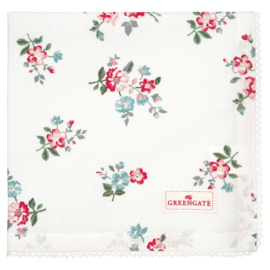 GreenGate Bread Basket Napkin Sonia White 40 x 40 cm