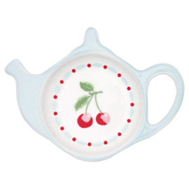 GreenGate Stoneware Teabag Holder Cherie White 10,0 x 12,5 cm