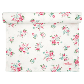 GreenGate Tablerunner Sonia White 45 x 140 cm