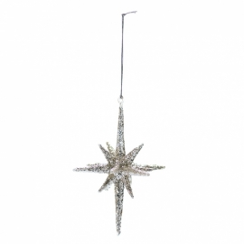 GreenGate Christmas Star Sparkling Large H 14 cm