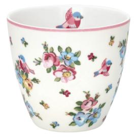 GreenGate Stoneware Latte Cup Ellie White H 9 cm