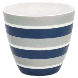 GreenGate Stoneware Latte Cup Alyssa Blue H 9 cm