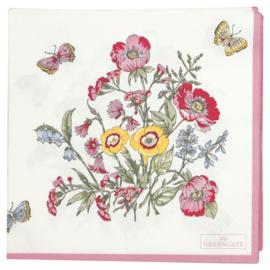 GreenGate Paper Napkin Myra White Large 20 Pieces 33 x 33 cm