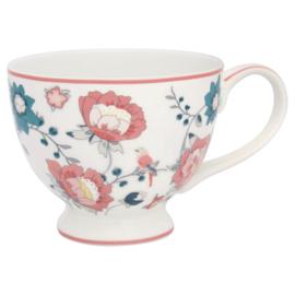 GreenGate Stoneware Teacup Sienna White H 9 cm