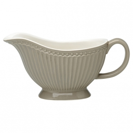 GreenGate Stoneware Sauciere Alice Warm Grey H 10 cm