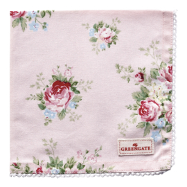 GreenGate Napkin With Lace Aurelia Pale Pink 40 x 40 cm