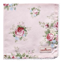 GreenGate Napkin With Lace Aurelia Pale Pink 40 x 40 cm