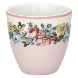 GreenGate Stoneware Mini Latte Cup Madison White H 6,5 cm