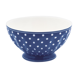 GreenGate Stoneware French Bowl Extra Large Spot Blue D 13,5 cm