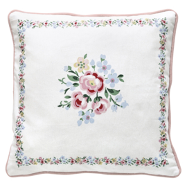 GreenGate Cushion Nicoline White Piece Printed 40 x 40 cm