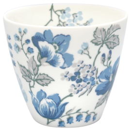 GreenGate Stoneware Latte Cup Donna Blue H 9 cm