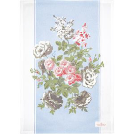 GreenGate Teatowel Petricia Pale Blue Piece Printed 50 x 70 cm