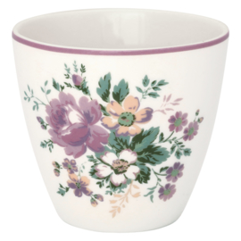 GreenGate Stoneware Latte Cup Marie Dusty Rose H 9 cm