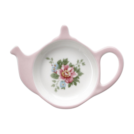 GreenGate Stoneware Teabag Holder Aurelia White D 10 cm