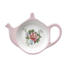 GreenGate Stoneware Teabag Holder Aurelia White D 10 cm