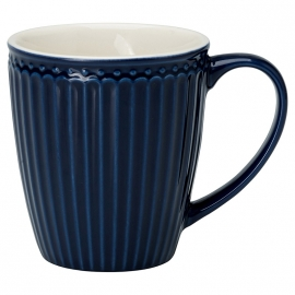 GreenGate Stoneware Mug Alice Dark Blue H 9,5 cm