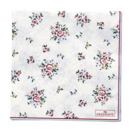 GreenGate Paper Napkin Nicoline White Large 20 Pieces 33 x 33 cm