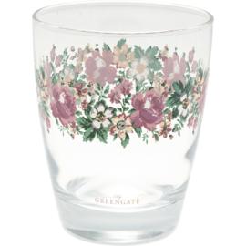 GreenGate Water Glass Marie Peach H 9,5 cm