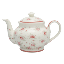 GreenGate Stoneware Teapot Round Flora H 15,5 cm