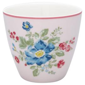 GreenGate Stoneware Latte cup Roberta Pale Pink H 9 cm