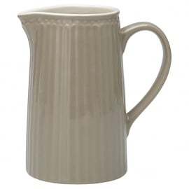 GreenGate Stoneware Jug Alice Warm Grey 1L H 17 cm