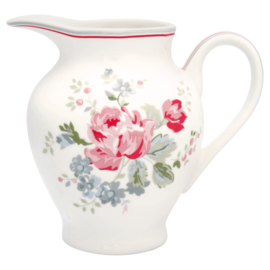 GreenGate Stoneware Creamer Round Elouise White H 12 cm