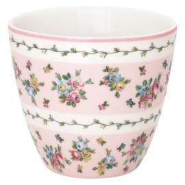 GreenGate Stoneware Latte Cup Ava White H 9 cm