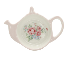 GreenGate Stoneware Teabag Holder Marley Pink 10,0 x 12,5 cm