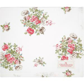 GreenGate Tablecloth Petricia White 100 x 100 cm