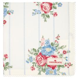GreenGate Cotton Napkin With Lace Henrietta White 40 x 40 cm