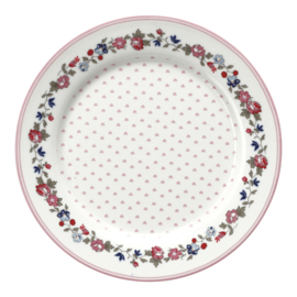 GreenGate Stoneware Kids Plate Ruby Petit White D 20 cm