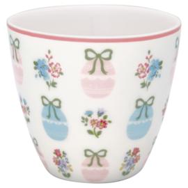 GreenGate Stoneware Latte cup Elsie White H 9 cm