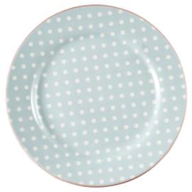 GreenGate Stoneware Plate Spot Pale Blue D 20,5 cm