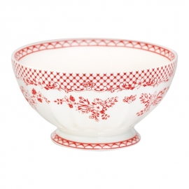 GreenGate Stoneware French Bowl  Extra Large Stephanie Red D 13,5 cm