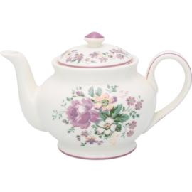 GreenGate Stoneware Teapot Round Marie Dusty Rose H 15,5 cm