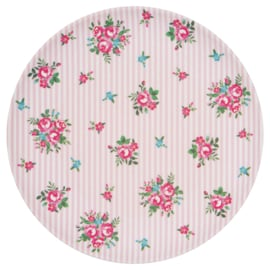 GreenGate Bamboo Plate Constance White D 20 cm
