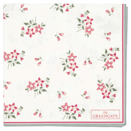 GreenGate Paper Napkin Small Avery White 20 pieces 25 x 25 cm