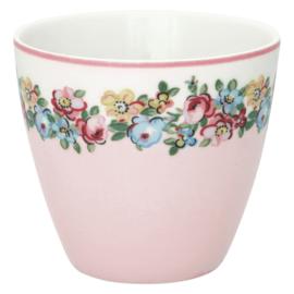 GreenGate Stoneware Latte Cup Madison White H 9 cm