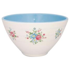 GreenGate Melamine Cereal Bowl Henrietta White