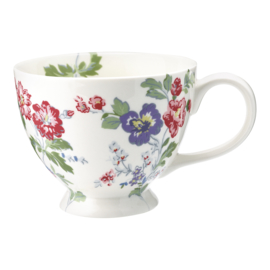 GreenGate Stoneware Teacup Isobel White H 9 cm